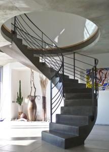 escalier design en fer
