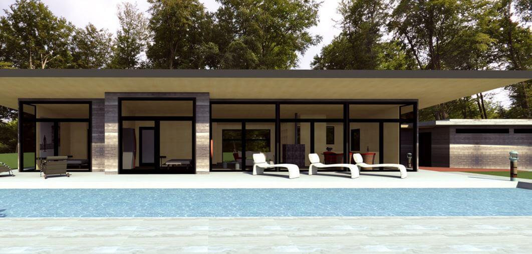 Architecture bois contemporaine pour maison en bois - Maison bois avec piscine ...